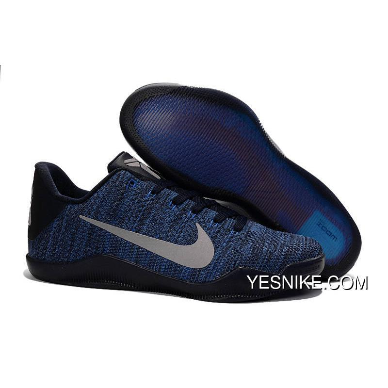 Official NikeKobe 11 Navy Blue Black Metallic Silver Online N44xbe6