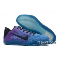 Official NikeKobe 11 Blue Purple Black Online IHwKE5f