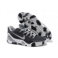 Big Discount ! 66% OFF! Nike Kobe 9 Low EM Black White Grey For Sale 311765