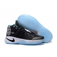 "Big Discount ! 66% OFF! Nike Kyrie 2 ""Court Deck"" Black/Black-Hyper Jade-White 309687"