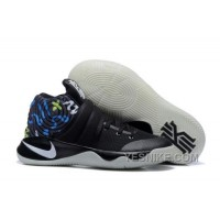 Big Discount ! 66% OFF! Nike Kyrie 2 Black/Multi-Color Mens Basketball Shoes