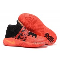 "Big Discount ! 66% OFF! Nike Kyrie 2 ""Bright Crimson"" Bright Crimson/Black/Atomic Orange"