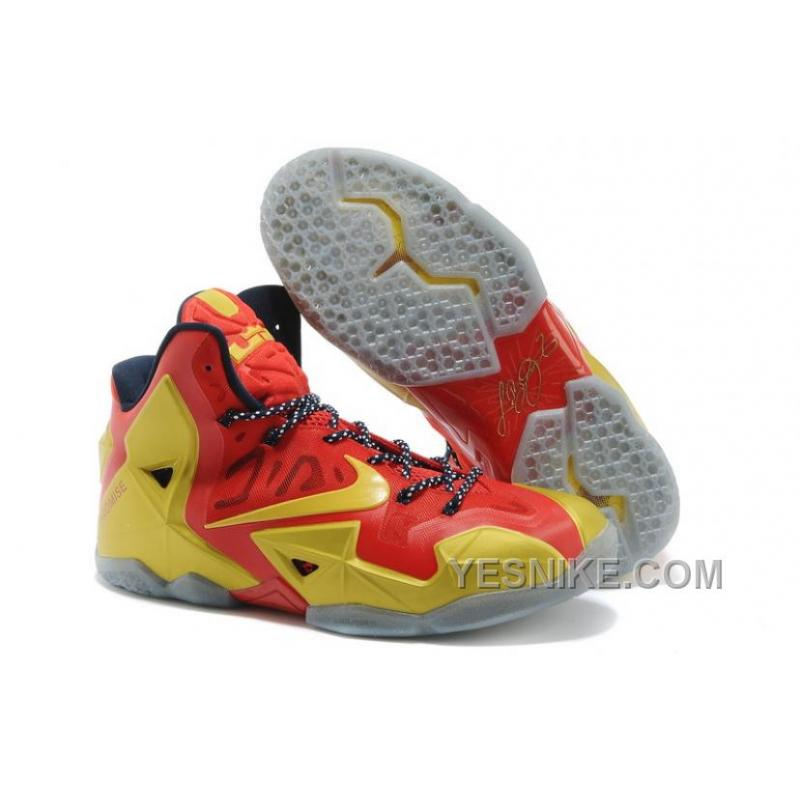 Big Discount  66 OFF Nike LeBron 11 Ring Ceremony PE Sport RedMetallic GoldBlack For Sale 309720
