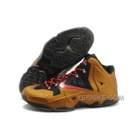 Big Discount ! 66% OFF! Nike LeBron James 11 Metal Gold/Black Red For Sale 311809
