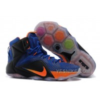 Big Discount ! 66% OFF! Nike LeBron 12 Hyper Blue/Black-Orange For Sale 311793