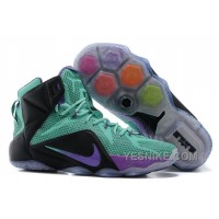 Big Discount ! 66% OFF! Nike LeBron 12 Teal/Court Purple-Black For Sale 311797