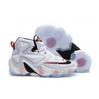 "Big Discount ! 66% OFF! Nike LeBron 13 ""Friday The 13th"" White/Black-University Red Basketball Shoes 309730"