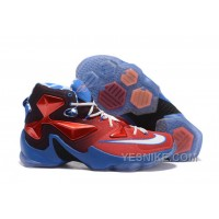 "Big Discount ! 66% OFF! Nike LeBron 13 ""USA"" Red/White-Blue Basketball Shoes"