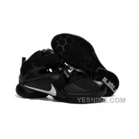"Big Discount ! 66% OFF! Nike LeBron Soldier 9 ""Blackout"" All Black Basketball Shoe"