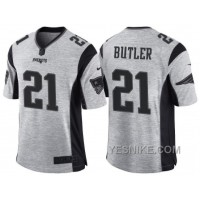 Big Discount ! 66% OFF ! Nike New England Patriots #21 Malcolm Butler 2016 Gridiron Gray II Men's NFL Limited Jersey