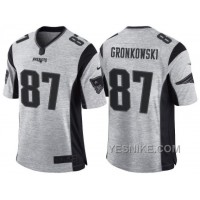 Big Discount ! 66% OFF ! Nike New England Patriots #87 Rob Gronkowski 2016 Gridiron Gray II Men's NFL Limited Jersey