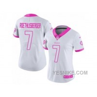 Big Discount! 66% OFF! Women's Nike Pittsburgh Steelers #7 Ben Roethlisberger Limited Rush Fashion Pink NFL Jersey