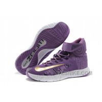 "Big Discount ! 66% OFF! Nike Zoom Hyperrev KYRIE IRVING ""BHM"" Purple Venom/University Gold/Black"