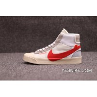 Sulfide OFFWHITE X Nike Blazer Mids To Be Retro Limited Skateboard Shoes WHITE Red AA3832006 Free Shipping