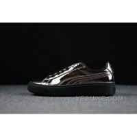 Lastest PUMA By Rihanna Suede Platform Suede Metallic Copper