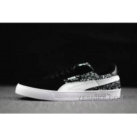 Online Puma Suede Winterized Zebra Black 2016 Winter Women Men