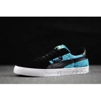 Christmas Deals Puma Suede Winterized Black Lake Blue 2016 Winter Women Men