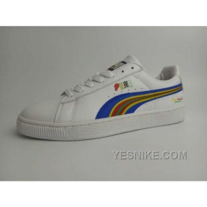 Online Puma Basket X Dee Ricky BW 360211 Rainbow Limited Men Women White