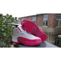 Big Discount! 66% OFF! Women Air Jordan 12 GS Dynamic Pink Sneaker AAA 212