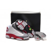 "Big Discount! 66% OFF! 2015 Air Jordan 13 Retro GS ""Cement Grey"" White/Black-True Red-Cement Grey For Sale"