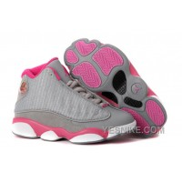 Big Discount! 66% OFF! Girls Air Jordan 13 Retro Gray Pink White For Sale