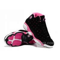 Big Discount! 66% OFF! Girls Air Jordan 13 Retro Suede Black Pink For Sale
