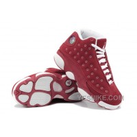 Big Discount! 66% OFF! Girls Air Jordan 13 Retro Suede Red White For Sale