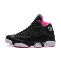 Big Discount! 66% OFF! Girls Air JD 13 Retro GS Black/Voltage Cherry-White For Sale Online SdFDd