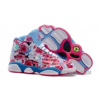Big Discount! 66% OFF! Women NK Air JD 13 Custom Floral Blue SPXDS