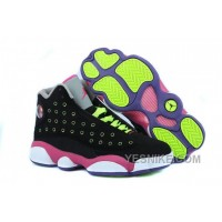 Big Discount! 66% OFF! Women NK Air JD 13 Retro Black/Pink/Fluorescent Green 4iFGn