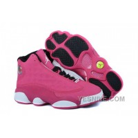 Big Discount! 66% OFF! Women NK Air JD 13 Retro Pink/White HaWhA