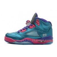 Big Discount! 66% OFF! Girls Air JD 5 Retro GS Tropical Teal/White-Digital Pink-Court Purple For Sale ZsQTj