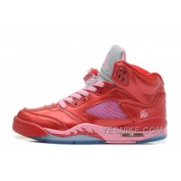 Big Discount! 66% OFF! Girls Air JD 5 Retro GS Valentine's Day Gym Red/Ion Pink For Sale MiC74