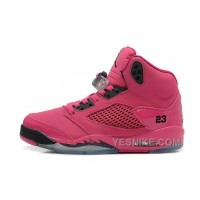 Big Discount! 66% OFF! Girls Air JD 5 Retro GS Vivid Pink/Black For Sale Online WWtyw