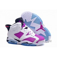 "Big Discount! 66% OFF! Girls Air Jordan 6 (VI) Retro GS ""Bright Grape"" For Sale"