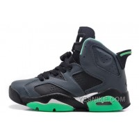 Big Discount! 66% OFF! Women Air JD 6 Retro Girls Black/Jade Green For Sale Online 462sd