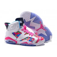 Big Discount 66 OFF Womens Air JD 6 GS Floral Custom WhitePink For Sale In Girls Size Hknjf