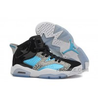 Big Discount! 66% OFF! Womens New Air JD 6 Girls Retro Leopard Print Black Blue White For Sale MYwcs