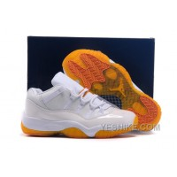 Big Discount! 66% OFF! Girls Cheap Air Jordan 11 GS Low Citrus Online Womens Size For Sale
