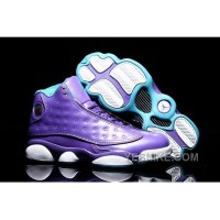 "Big Discount! 66% OFF! Girls Air Jordan 13 Retro GS ""Hornets"" Purple Teal For Sale"