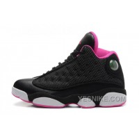 Big Discount! 66% OFF! Girls Air Jordan 13 Retro GS Black/Voltage Cherry-White For Sale Online