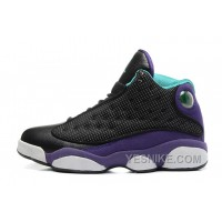 "Big Discount! 66% OFF! Girls-Air Jordan 13 Retro GS ""Grape"" Black/Atomic Teal-Ultraviolet For Sale"