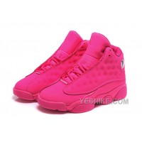 Big Discount! 66% OFF! Womens Air Jordan 13 GS All Pink Girls Cheap For Sale