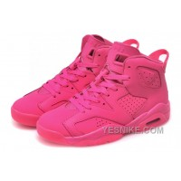Big Discount! 66% OFF! Womens Nike Air Jordan 6 GS All Pink For Sale Girls Size
