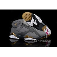 Big Discount! 66% OFF! Air Jordan 7 GS Blue Dusk Grey Metallic Gold Obsidian-White