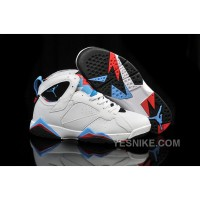 Big Discount! 66% OFF! Air Jordan 7 VII White Infrared Orion Blue For Girls Size