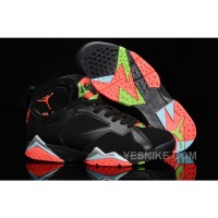 Big Discount! 66% OFF! Girls Nike Air Jordan 7 Retro Marvin The Martian Black Infrared Green