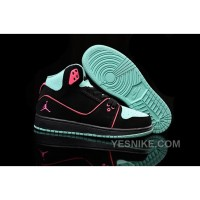Big Discount! 66% OFF! Women Nike Air Jordan 1 Flight 2 Shoes Black Pink Turquoise