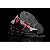 Big Discount! 66% OFF! Women Nike Air Jordan 1 Flight 2 Shoes Black Grey Pink