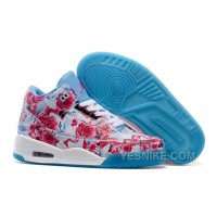 "Big Discount! 66% OFF! 2015 Air Jordan 3 GS ""Flower Print"" White Blue Girls Size New For Sale"